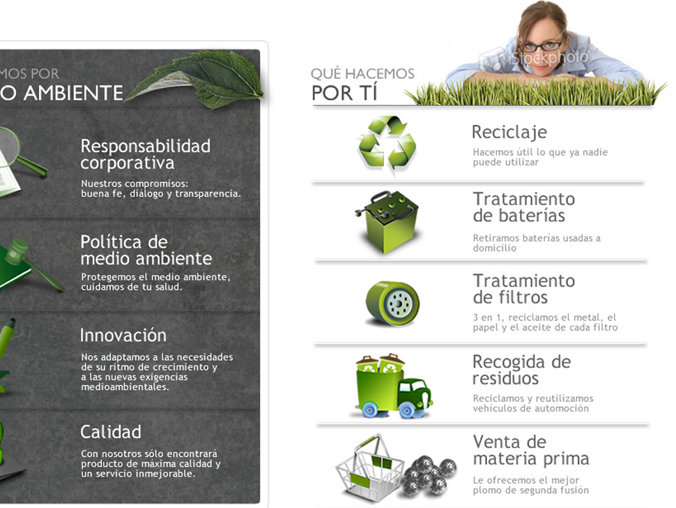 Web Design. Environmental Company